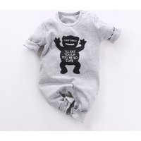 Baby & Toddler's Wacky Little Monster Jumpsuit in Grey