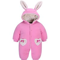 Pretty Pink Rabbit Long-sleeve Bodysuit/Jumpsuit for Baby
