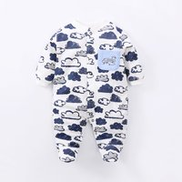Comfy Cloud Pattern Jumpsuit with Footie for 6-9 Months Baby