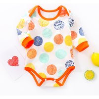 Stylish Dotted Long-sleeve Bodysuit for Newborn and Baby Boy