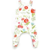 Charming Floral Sleeveless Jumpsuit for Baby Girl