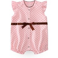 Sweet Dotted Flounce-sleeve Jumpsuit for Baby Girl