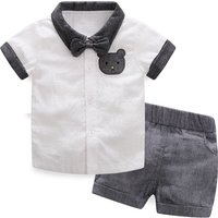 2-piece Handsome Polo Shirt and Shorts Set for Baby Boy