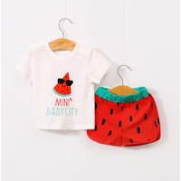 2-piece Happy Mini Watermelon Tee and Shorts Set for Baby