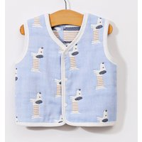 Cute Dog Pattern Vest in Light Blue for Baby Boy