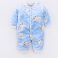 Adorable Rabbit Patterned Long-sleeve Jumpsuit for Baby