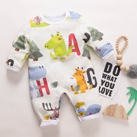 Cutie Animal Design Long-sleeve Jumpsuit for Baby