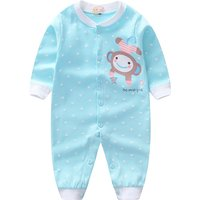 Lovely Polka Dots Monkey Print Jumpsuit for Baby Girl