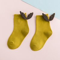 1-pair Cute Wing Decor Solid Socks for Baby Boy