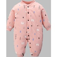 Warm Polar Bear Quilted Long-sleeve Jumpsuit for Baby