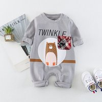 Cute Bear Long-sleeve Jumtsuit for Baby