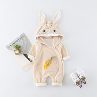 Super Cute Rabbit and Carrot Hooded Jumpsuit for Baby
