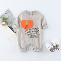 Cool Letter Print Long-sleeve Jumpsuit for Babies