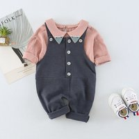 Unique T-shirt and Suspender Pants Set for Baby