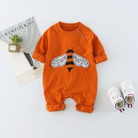 Lovely Bee Printed Long-sleeve Jumpsuit for Babies