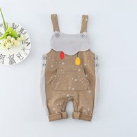 Cute Star Design Sleeveless Jumpsuit for Baby