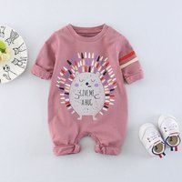Lovely Hedgehog Print Jumpsuit for Baby