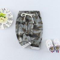 Cool Camouflage Drawstring Pants for Baby Boy