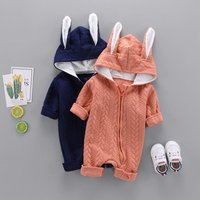 Adorable Baby Rabbit Ear Hooded Jumpsuit