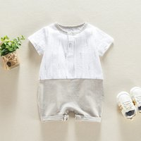 Gentle Faux-two Short-sleeve Bodysuit for Baby Boy