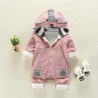 Adorable Deer Design Long-sleeve Hooded Baby Jumpsuit