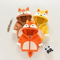 Cute Fox Design Hooded Coat for Baby