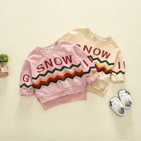 Baby / Toddler's Letter Print Geo Stripe Pullover