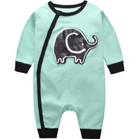 Cute Elephant Print Long-sleeve Cotton Jumpsuit for Baby