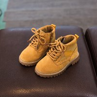 Comfy Suede Martin Boots for Toddler and Kid
