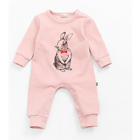 Baby's Lovely Rabbit Patterned Jumpsuit in Pink