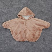 Trendy Hooded Solid Cape for Baby