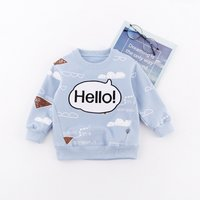 Hello Printed Long Sleeves Top for Baby
