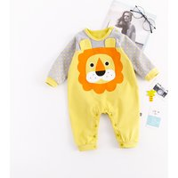 Lovely Animal Design Polka Dotted Jumpsuit for Baby