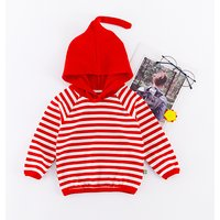 Casual Striped Color-blocking Hooded Sweatshirt for Baby