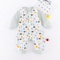 Lovely Elephant Patterned Long-sleeve Jumpsuit for Baby