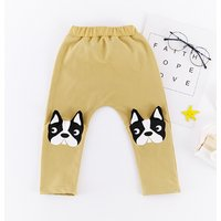 Cute Dog Print Elastic Waist Pants for Baby