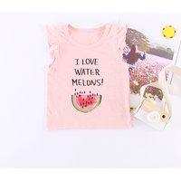 Pretty Watermelon Print Sleeveless Tee for Baby Girl