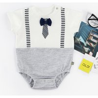 Cool Faux-two Bow Tie Bodysuit for Baby Boy