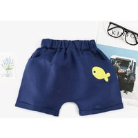 Cute Fish Appliqued Shorts for Baby Boy