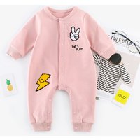 Cute Embroidered Cartoon Long-sleeve Jumpsuit for Baby