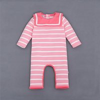 Trendy Striped Long-sleeve Jumpsuit for Baby