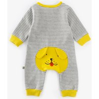Trendy Striped Dog Design Long-sleeve Jumpsuit for Baby Boy