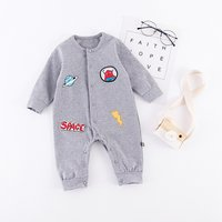 Stylish Embroidery Long Sleeve Jumpsuit for Baby Boy