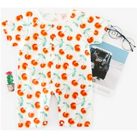 Cute Cherry Pattern Short-sleeve Romper for Baby