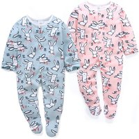 Adorable Rabbit Pattern Long-sleeve Jumpsuit for Baby