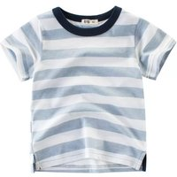 Stylish Round Collar Striped T-shirt for Boy