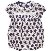 Pretty Star Print Short-sleeve Romper for Baby Girl