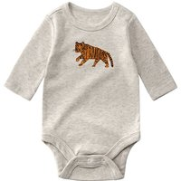 Cute Animal Decor Long-sleeve Bodysuit for Baby
