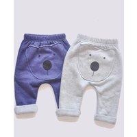 Cute Bear Design Fleece-lining Pants for Baby