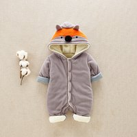 Cute Fox Long-sleeve Jumpsuit for Baby